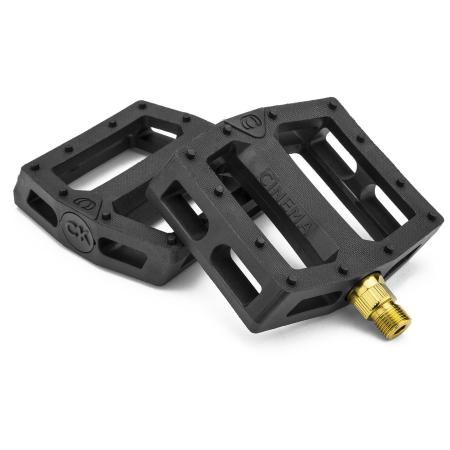 Cinema CK Black with Gold PC BMX pedals
