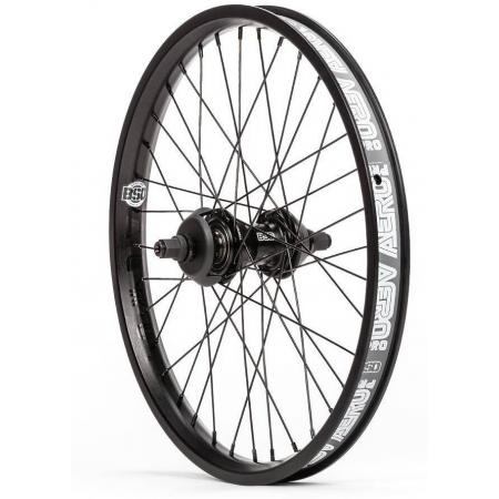 BSD Aero Pro West Coaster Freecoaster RHD Black BMX Rear Wheel